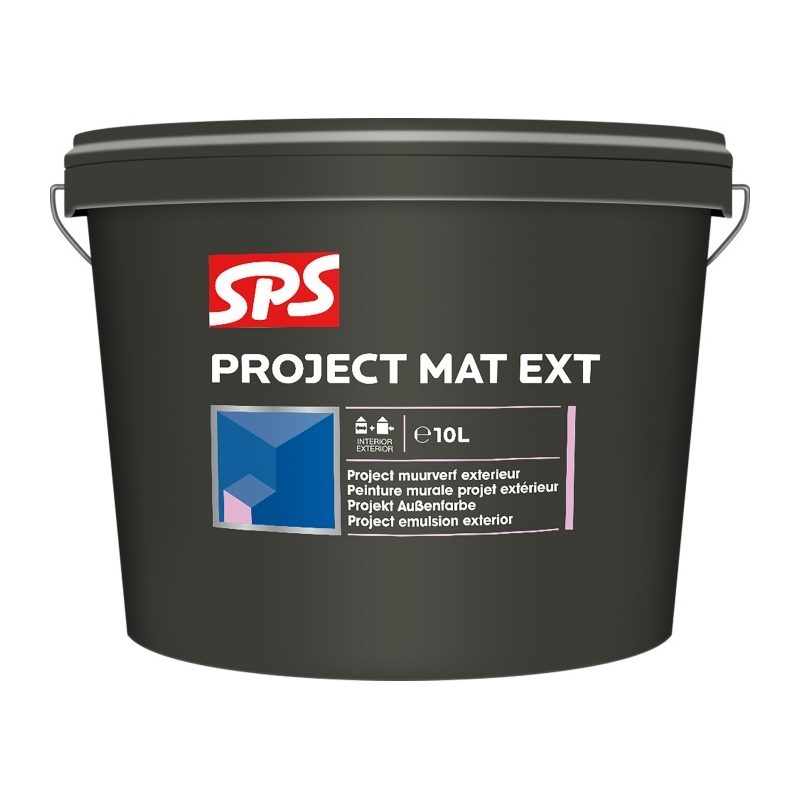 SPS Project mat fasádní - černá 10l